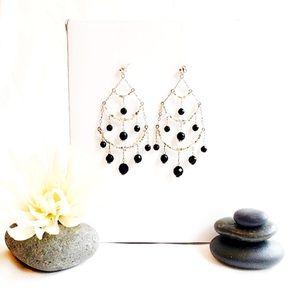 Three Tiered Chandelier Earrings